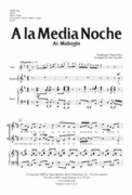A la Media Noche - Flute Part