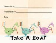 Award Certificates Mini - Take a Bow!