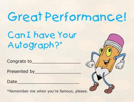Award Certificates Mini - Autograph Hound