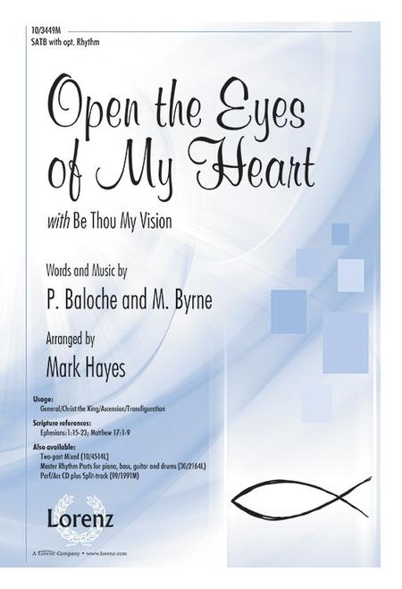 Open The Eyes Of My Heart With Be Thou My Vision Sheet Music By Paul ...