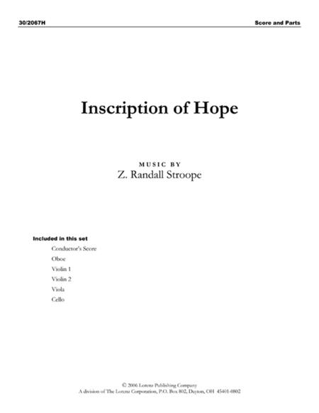 Inscription of Hope - Score and Parts
