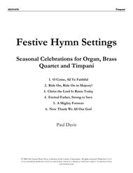 Festive Hymn Settings - Brass and Timpani Parts