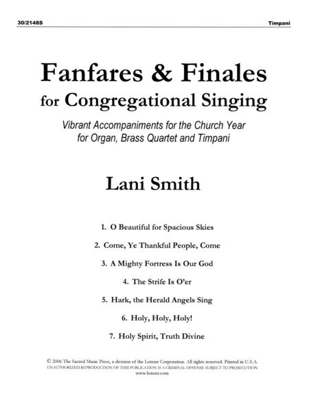 Fanfares and Finales for Congregational Singing - Brass and Timpani Parts