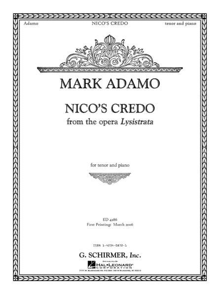 Nico's Credo from Lysistrata