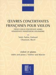 French Violin Concertante Works