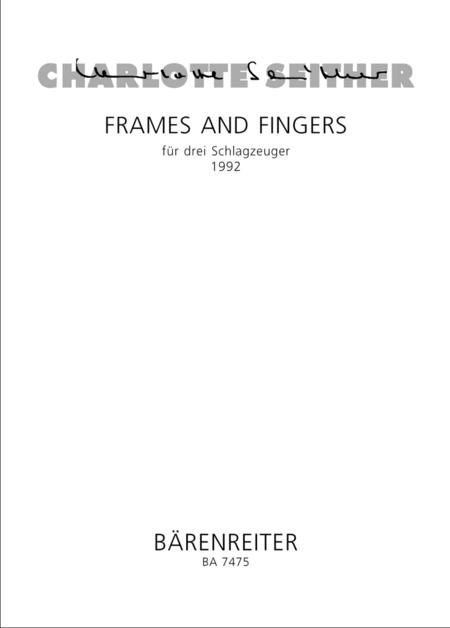 Frames and fingers for 3 Percussionists