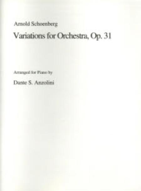 Variations 1 Piano version, Op. 31