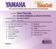 Alison Krauss & Union Station - New Favorite - Piano Software