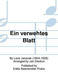 Ein verwehtes Blatt (aus dem Klavierzyklus Auf verwachsenem Pfade)