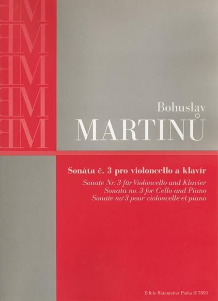 Sonata for Violoncello and Piano Nr. 3