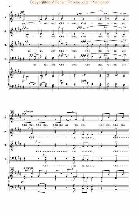 *LOT OF 15* HODIE CHRISTUS NATUS EST by J Walton Music SATB Octavo Busto