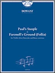 Paul's Steeple (Trad.) & Faronell's Ground (Follia) for Treble (Alto) Recorder and Basso Continuo