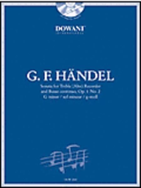 Handel: Sonata in G Minor, Op. 1, No. 2 for Treble (Alto) Recorder and Basso Continuo
