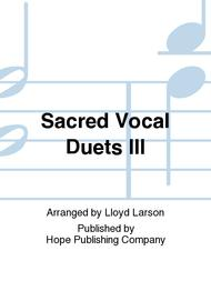 Sacred Vocal Duets III with CD Accomp.