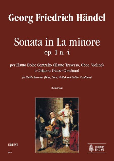 Sonata In A Minor Op 1 No 4 Sheet Music By George Frideric Handel