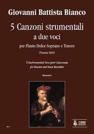 5 Instrumental two-part Canzonas (Venezia 1610)