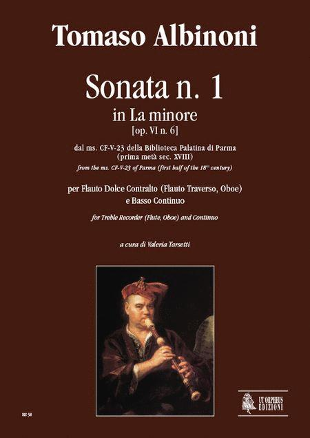 Sonata No. 1 in A Minor from the ms. CF-V-23 of the Biblioteca Palatina in Parma (early 18th century)