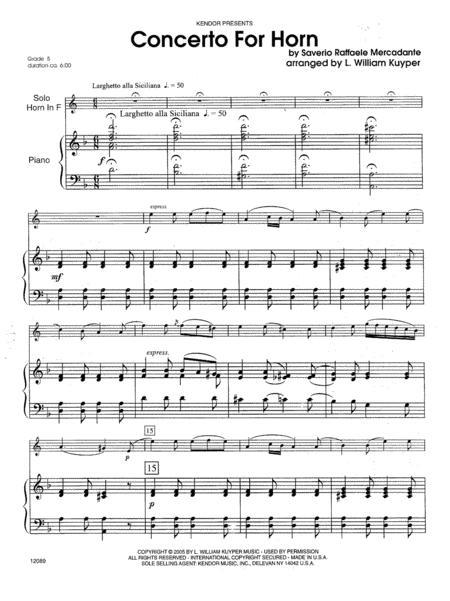 Concerto For Horn (Digital Download Only)