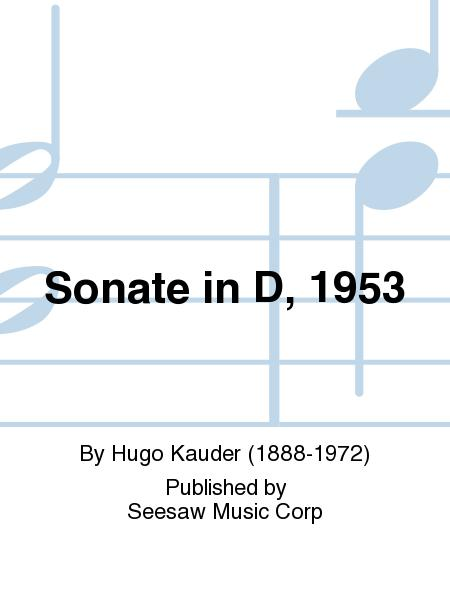 Sonate in D, 1953