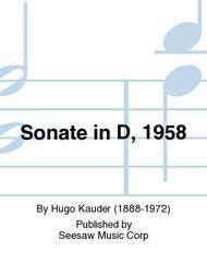 Sonate in D, 1958