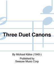 Three Duet Canons