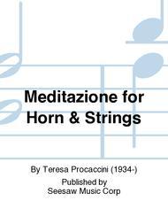 Meditazione for Horn & Strings