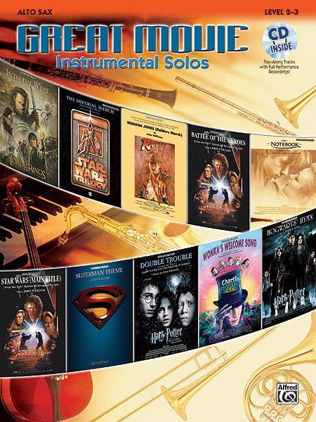 Great Movie Instrumental Solos - Alto Sax (Book & CD)