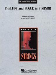 Prelude and Fugue in E minor