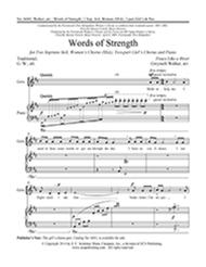 Words of Strength (Choral Score)