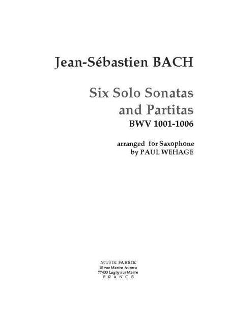 Solo Sonata/Partitas (violin) BWV 1001-1006