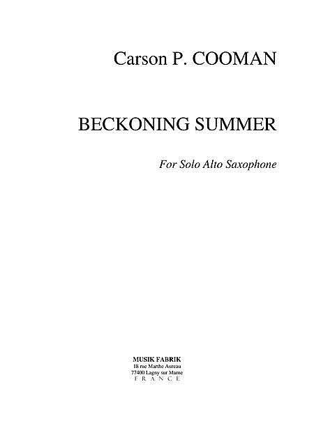 Beckoning Summer