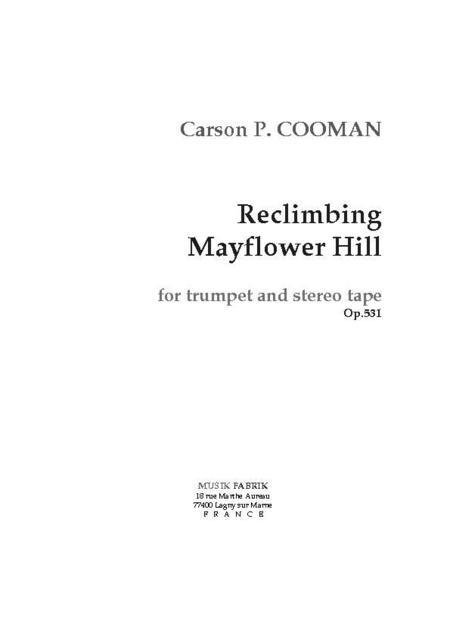 Reclimbing Mayflower Hill