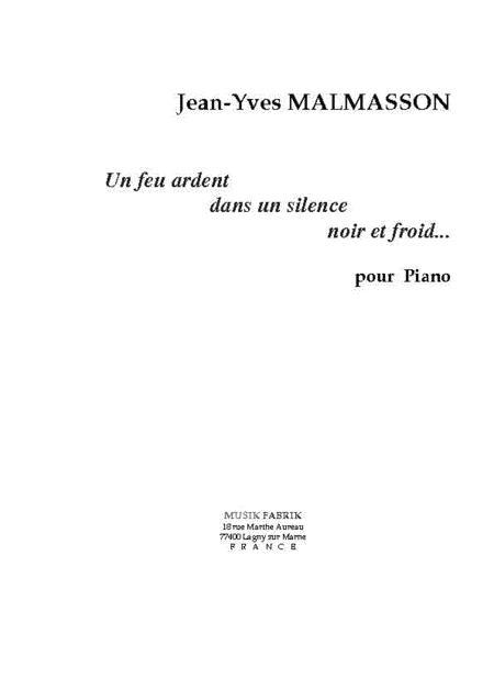 Un Feu Ardent dans un Silence...