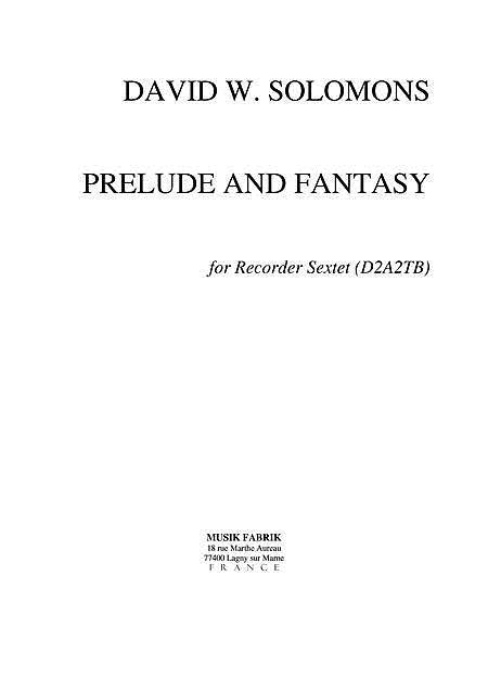 Prelude and Fantasy