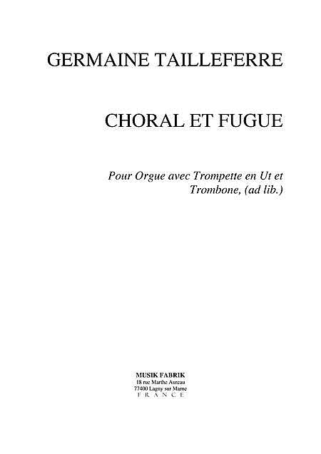 Choral for Organ with Optional Brass