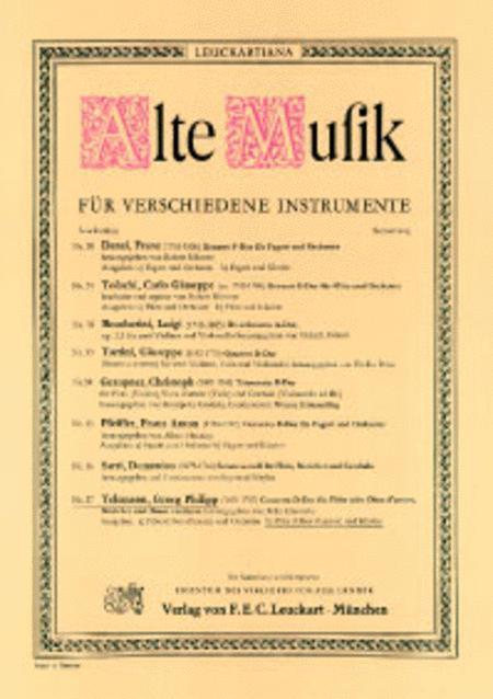 Concerto D-Dur fur Flute (Oboe d'amore), Streicher und Basso continuo