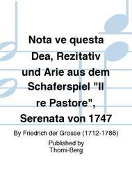 Nota ve questa Dea, Rezitativ und Arie aus dem Schaferspiel