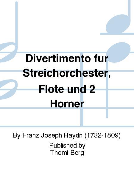 Divertimento fur Streichorchester, Flote und 2 Horner