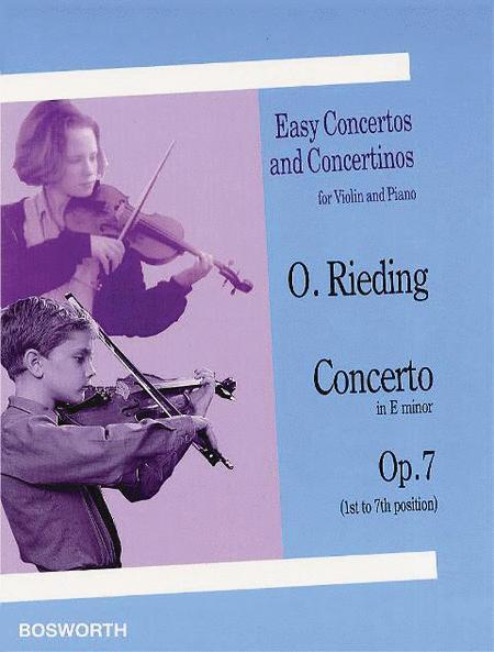 Oskar Rieding: Concerto In E Minor (Violin/Piano)