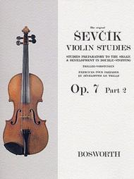 Sevcik Violin Studies - Opus 7, Part 2