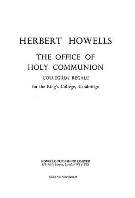 The Office of Holy Communion (Collegium Regale)