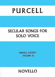 Purcell Society Volume 25 - Secular Songs
