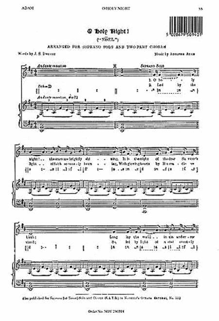 o holy night pdf soprano