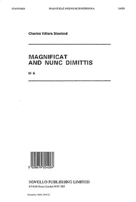 Magnificat and Nunc Dimittis in A