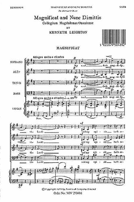 Magnificat and Nunc Dimittis (Magdalen Service)