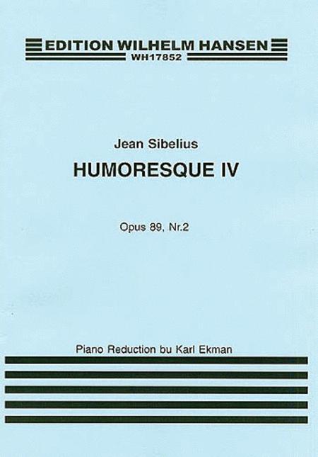 Jean Sibelius: Humoresque IV Op.89 No.2 (Violin/Piano)
