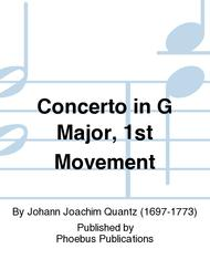 Concerto in G Major, 1st Movement