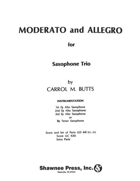 Moderato and Allegro Saxophone Trio