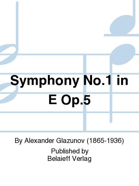 Symphony No. 1 in E Op. 5