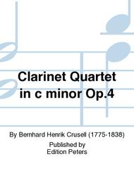 Clarinet Quartet in c minor Op. 4